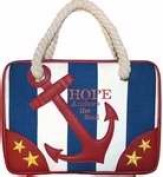 Divinity Boutique 102461 Bible Cover - Nautical - Hope Anchors The Heart - X - Large
