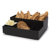 Rosseto Serving Solutions BD113 Large Black Matte Acrylic Condiment Tray Bakery Building Block