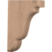 Ekena Millwork BKTW02X05X08BEWA 4.4cm . W x 13cm . D x 19cm . H Bedford Wood Bracket Walnut