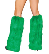 Roma Costume 14-C121-HG-O-S Fur Boot Covers One Size - Hunter Green