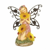 Eastwind Gifts 10016221 Garden Blooms Fairy Solar Statue