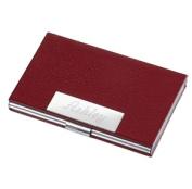 Visol V407B Samantha Red Leather Business Card Case for Ladies