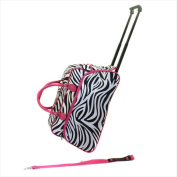 All-Seasons 8136122021T-F 50cm . Vacation Deluxe Carry-On Rolling Duffel Bag Pink Zebra