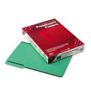 Smead 22546 Recycled Pressboard Folder 2.5cm .Expansion 1/3 Cut Top Tab Legal Green 25/Bx