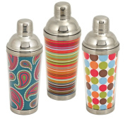 True Fabrications 2547 Assorted Mod Cocktail Shakers - Pack of 6