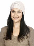 Simplicity Crochet Bead Hairband Knit Headband Ear Warmer Head Wrap, Beige