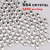 Perfect Summer 1440pcs DIY Nail Art Designs Sets Mix-sizes Clear Crystal Rhinestones Flatback Gems Diamond Decorations 1.5mm