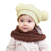 Tonsee Cute Baby Kids Girl Boy Dual Balls Warm Winter Knitted Cap Hat Beanie