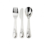 Silver Baby Fork Knife and Spoon By Peter Rabbit