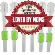 LovedByMoms Child Safety Locks with Adjustable Latches - 6-Pack