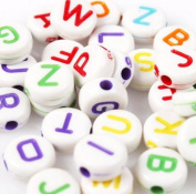 500pcs Colourful Mixed Alphabet Letter Beads