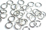 Solid Sterling Silver 925 Hard Snap Open Jump Rings 4mm 100 Pieces Heavy 20 Gauge Wire