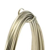 21 Gauge Half Round Half Hard Nickel Silver Wire - 1.5m