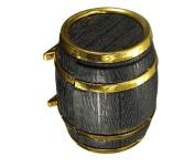 Beer Barrel Shape Velvet Ring Earrings Jewellery Display Storage Box by 24/7 store
