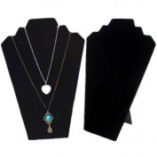 Black Velvet Easel Necklace Earrings Jewellery Display Stand by 24/7 store
