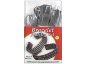 Pepperell Vinyl Lace Jewellery Kit Bracelet Silver