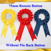 """Asc365 50sets 3"""" Paper Back Rosette Without Pin Badge Button Supplies Maker 75mm"""