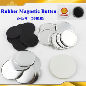 "Asc365 100sets Rubber Magnetic 2-1/4"" 58mm Button Maker Parts."