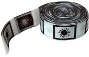 RaanPahMuang Brand Roll of Sun Emblem Tags Woven Ribbon Approx 300 Pieces