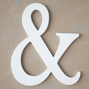 "The Lucky Clover Trading "" & "" Wood Block Symbol, White"