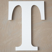 "The Lucky Clover Trading ""T"" Wood Block Letter, White"
