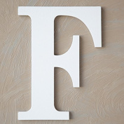 "The Lucky Clover Trading ""F"" Wood Block Letter, White"