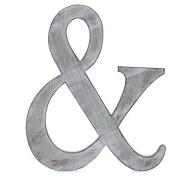 "The Lucky Clover Trading "" & "" Wood Block Symbol, Charcoal Grey"