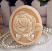 Creativemoldstore 1pcs Rose (zx80) Craft Art Silicone Soap Mould Craft Moulds DIY Handmade Soap Mould
