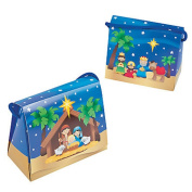 Nativity Tent Boxes with Handles ~ 13cm x 10cm x 6.4cm ~ Simple Assembly ~ New