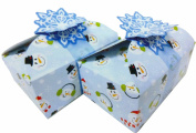 Christmas Holiday Cookie and Treat Boxes ~ 2 Pack bundle - Includes 4 boxes