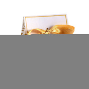 RuiChy 50 PCS Wedding Favour Candy Boxes Gift Boxes With Ribbons,Gold