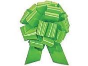 Christmas Gift Wrap- Citrus Lime Satin Pull Bows Value Pack - 12 Pcs