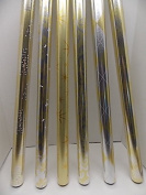 3 Rolls of Gold and Silver Metallic Gift Wrap - Neutral Paper for Wrapping Presents - Assorted Styles