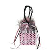 "Miniature Music Box Mini Gift Bag - Pink polka dot bag 'ooh la la' ""Claire de Lune"""