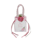 """Miniature Music Box Mini Gift Bag - Pink Special Friend """"That's What Friends Are For"""""""
