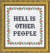 Subversive Cross Stitch 'Hell is Other People' Deluxe Kit