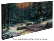Winter's End - Thomas Kinkade 41cm X 80cm Gallery Wrapped Canvas