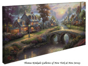 Sunset on Lamplight Lane - Thomas Kinkade 41cm X 80cm Gallery Wrapped Canvas