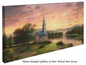 Sunrise Chapel - Thomas Kinkade 41cm X 80cm Gallery Wrapped Canvas