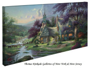 Clocktower Cottage - Thomas Kinkade 41cm x 80cm Gallery Wrapped Canvas