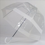 Elite Rain Frankford RB01-WH Clear Bubble Umbrella White Trim