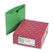 Smead 75503 File Jackets with Reinforced Double-Ply Tab Ltr 11 Pt. Stock GR 100/bx