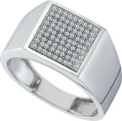 Gold and Diamonds RX0270-W 0.25CT-DIA MICRO-PAVE MENS RING- Size 7
