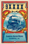 Buy Enlarge 0-587-24594-8P12x18 9XXXX Steam Train Broom Label- Paper Size P12x18