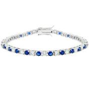 Kate Bissett B01003R-C30 Sapphire Blue CZ Tennis Bracelet