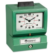 Acroprint Time Recorder 011070413 Model 125 Analogue Manual Print Time Clock with Month-Date-0-23 Hours-Minutes