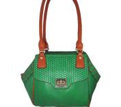 Aryana Ashlyn7grn Green Handbag With Twist Lock Flap