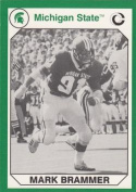 Autograph Warehouse 101222 Mark Brammer Football Card Michigan State 1990 Collegiate Collection No. 40