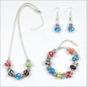 My Favourite Beads 135040 Pandora Style Mardi Gras 3 Piece Set