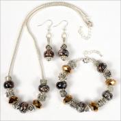 My Favourite Beads 134933 Pandora Style Bronze Beauty 3 Piece Set